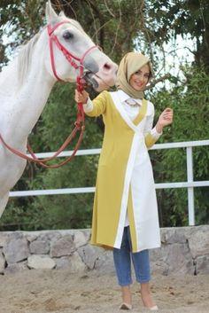 Nur Banu Oksit Sarısı Bahar Ceket Tunik