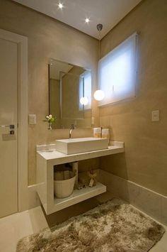 Já ouviu falar em lavabo confortável? hahaha lindo!