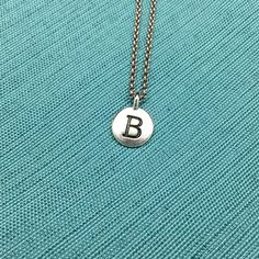 B Initial Charm Necklace