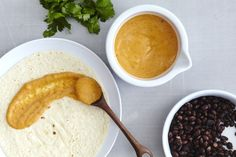 """Vegan """"Crack Sauce."""" it started with a black bean burrito at (arguably) Brooklyn's best taco truck, Calexico. Before the beans, rice, salsa and guacamole are added, a rich pink sauce is slathered over the tortilla,"""