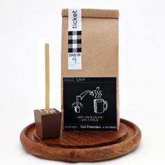 Ticket Chocolate - Salted Caramel hot chocolate stick
