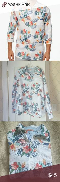 Tommy Bahama Gardenia Blooms linen shirt L Tommy Bahama Men's Gardenia Blooms Floral-Print linen Hawaiian shirt size L. Excellent condition. Gorgeous for summer, spring or fall! Retailing now for $118! Tommy Bahama Shirts Casual Button Down Shirts
