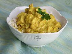 Pollo al curry con arroz basmati - Chicken curry with basmati rice