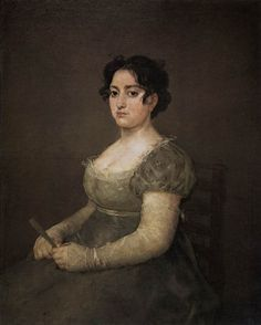 Portrait of a Lady with a Fan - Francisco de Goya. Oil on canvas 103 x 83 cm. Spanish Painters, Spanish Artists, Jane Austen, Francisco Goya Paintings, Fernando Vii, Francisco Jose, Non Blondes, Positive Art, Body Positive