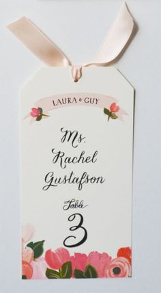 Escort Cards/Names for wedding we ♥ this! davidtuteraformoncheri.com