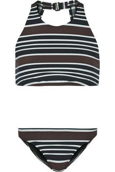 Striped bikini #swimwear #beachtrip #vacation #sunny #women #covetme #toryburch