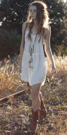 Little White Fox Dress | #bohemian #boho #hippie #gypsy