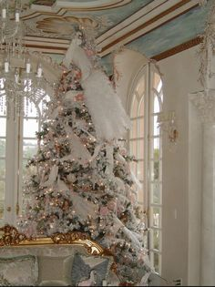 White peacock tree...way too much going on for me, but I like the white and the nude color pallet
