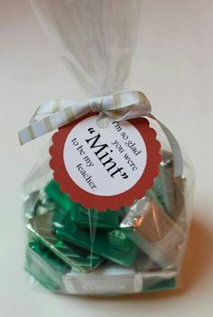"""""""I'm so glad you were Mint to be my teacher"""" DIY Teacher Appreciation Be My Teacher, Thank You Teacher Gifts, Teacher Stuff, School Teacher, Teacher Appreciation Week, Employee Appreciation, Appreciation Note, Presents For Teachers, School Treats"""