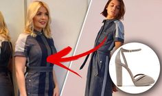 Holly Willoughby winning at motherhood in tight denim dress from Jigsaw