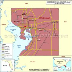 Hillsborough County Map