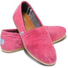 TOMS Rose Cord Women's Classics Size 5.5 ($54) ❤ liked on Polyvore