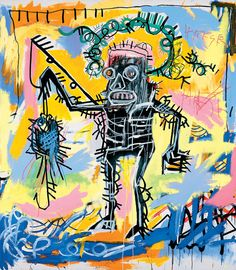 Untitled (Fishing) 1981✋ARTIST ✋JEAN MICHELLE BASQUIAT Pins Like This At FOSTERGINGER @ Pinterest✋