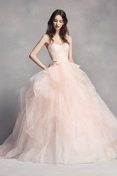 Wedding gown by White by Vera Wang.