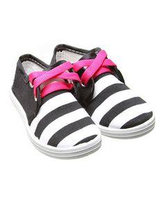 Love this Black & White Victor Sneaker on #zulily! #zulilyfinds