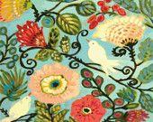 鳥ボヘミアンコテージスタイルの花アートプリント -  8.5×11カレン·フィールズ
