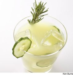 Rosemary-Infused Cucumber Lemonade Turn fresh rosemary, cucumbers, and lemons into grown-up lemonade that will keep you cool on a hot day.