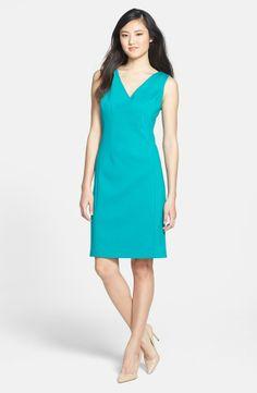 turquoise sheath dress