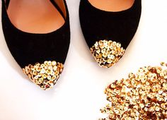 как украсить туфли пошагово