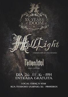 Tudo pronto para um show que tem tudo pra entrar na memória dos fãs de Doom Metal do Brasil: a celebração de vinte anos de carreira do paulista HELLLIGHT. O evento acontece no dia 26 de novembro, n…