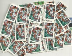 #2834 - 29¢ World  x 100 Used US Stamps Lot World Cup S Issue See our other lots
