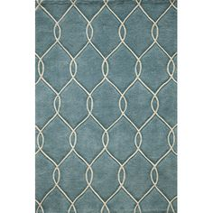 WAYFAIR Bassett Hand-Tufted Teal Area Rug by Breakwater Bay  2 X 3' AS BATH MAT?  $32.99