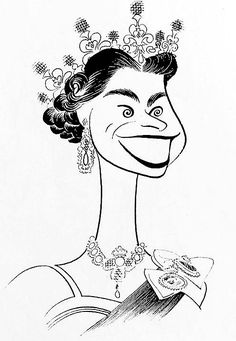 'her majesty, queen elizabeth II of england' by al hirschfeld