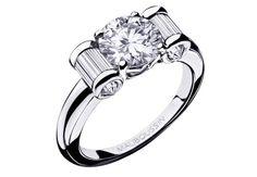 OlympeBague en or blanc et diamant 1 ct, baguettes diamant. Modèle Olympe, Mauboussin, 42720 €.