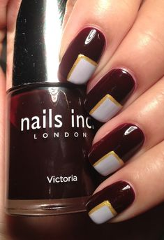 Nails inc 'Victoria' and Essie's 'St Lucia Lilac'