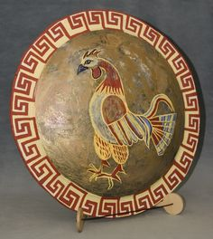 A Replica of an Ancient Greek Hoplite Shield