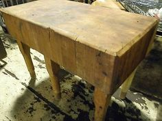Used butcher block for sale home furniture more and table wood vintage 1900s antique solid maple butcher block meat cutting table 48x32x70 workwithnaturefo