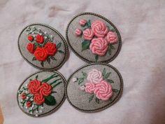 #embroidery #프랑스자수 #brooch #flower #handmade #gachi