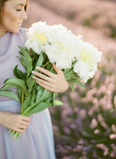 Peony bouquet: http://www.stylemepretty.com/2015/07/31/a-provence-engagement-session-in-fields-lavender/ | Photography: Greg Finck - http://www.gregfinck.com/
