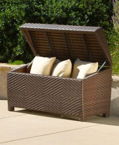 Carlan Wicker Store Chest Quick Ship Brown