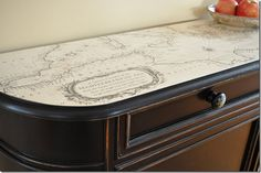 map table top - want to cover my kids homework table with a map and then maybe glass?
