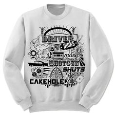Supernatural Sweatshirt. Driver Picks The Music. Unisex Adult Sweatshirt. Dean Winchester's House Rules. by giftedshirts on Etsy https://www.etsy.com/listing/253118706/supernatural-sweatshirt-driver-picks-the