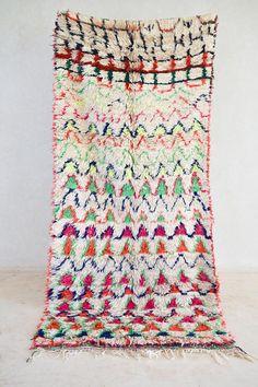 AZILAL Vintage Moroccan Runner Rug. Modern Design.