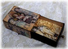 Victorian Altered Matchbox by Paula Tidman | That's Blogging Crafty!