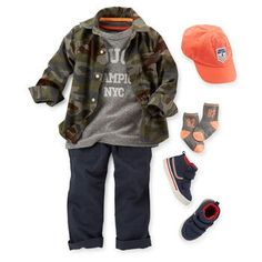 f33c3ef688 Pair a cool tee with ripstop pants and sneakers for a sporty outfit. Toddler  ...