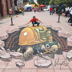 Mexican Artist Juandres Vera creates Magnificent 3D Street Art. |FunPalStudio| Art, Artist, Artwork, Illustrations, Entertainment, beautiful, creativity, paintings, drawings, street art, murals, graffiti art, animals.