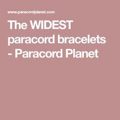 The WIDEST paracord bracelets - Paracord Planet