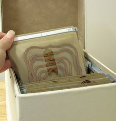 Awesome idea for storing metal dies.  Now if I can just get my hands on one of these boxes...