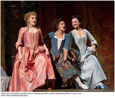The female cast of Mozart's Cosi Fan Tutte. Late 18th Century.