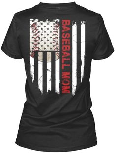 Baseball Mom American Flag T Shirt