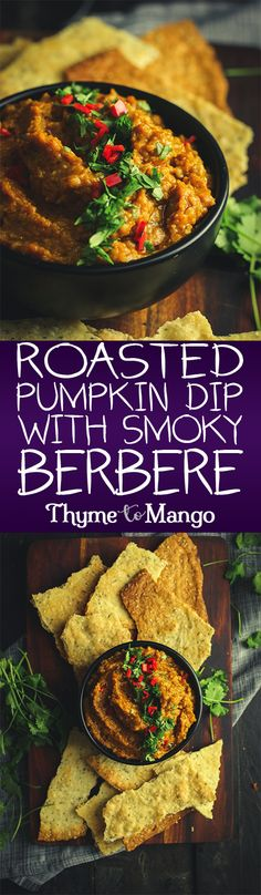 Achieve all you autumnal snacking goals with this pumpkin dip complete with caramelised onions, cashews and a smoky, Ethiopian-style Berbere spice blend
