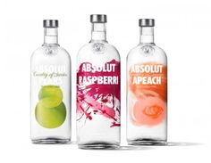 Absolut Flavored Vodka Redesigned on Packaging of the World - Creative Package Design Gallery Absolut Vodka, Bottle Packaging, Brand Packaging, Design Packaging, Product Packaging, Packaging Ideas, Food Packaging, Buffet, Chocolate Packaging