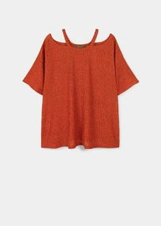 Camiseta fluida off-shoulder