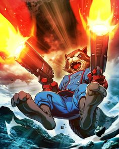 Rocket Raccoon Plus by GENZOMAN.deviantart.com on @deviantART