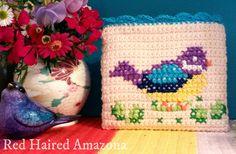 Shirley Bird Crochet Purse