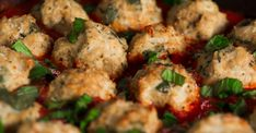 When we think of meatballs, we typically think of spaghetti and (beef) meatballs, but that's all about to change. Using chicken as the base of these meatballs, we decided to add fresh spinach to this